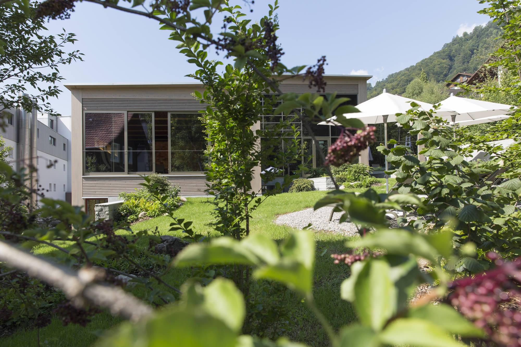 Seehotel Wilerbad Spa Garten Aussicht