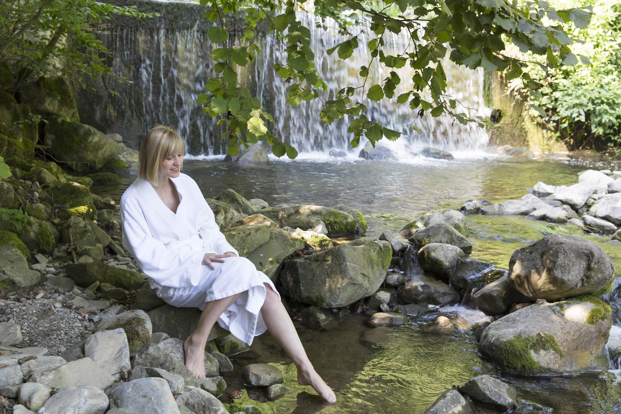 Seehotel Wilerbad, Wasserfall bei Spa