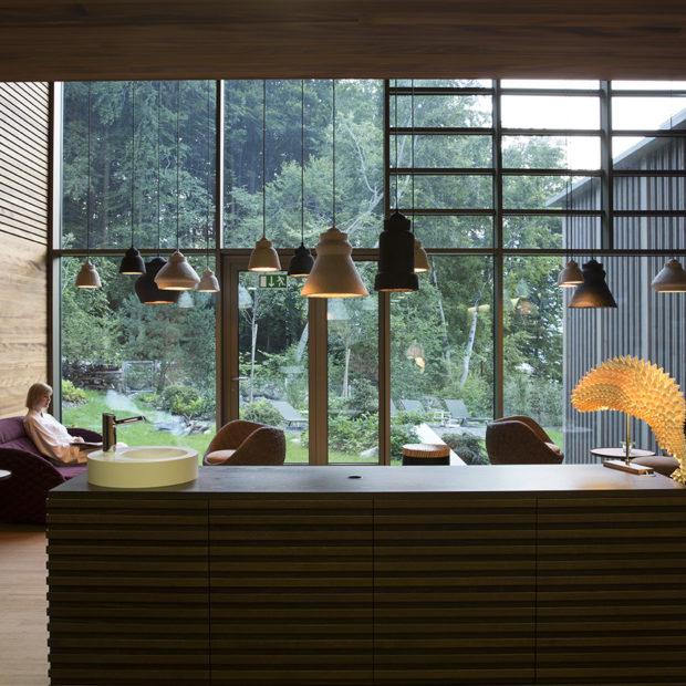 Spa Lounge mit Wald Seehotel Wilerbad