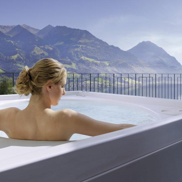 Whirlpool im Zimmer Seehotel Wilerbad