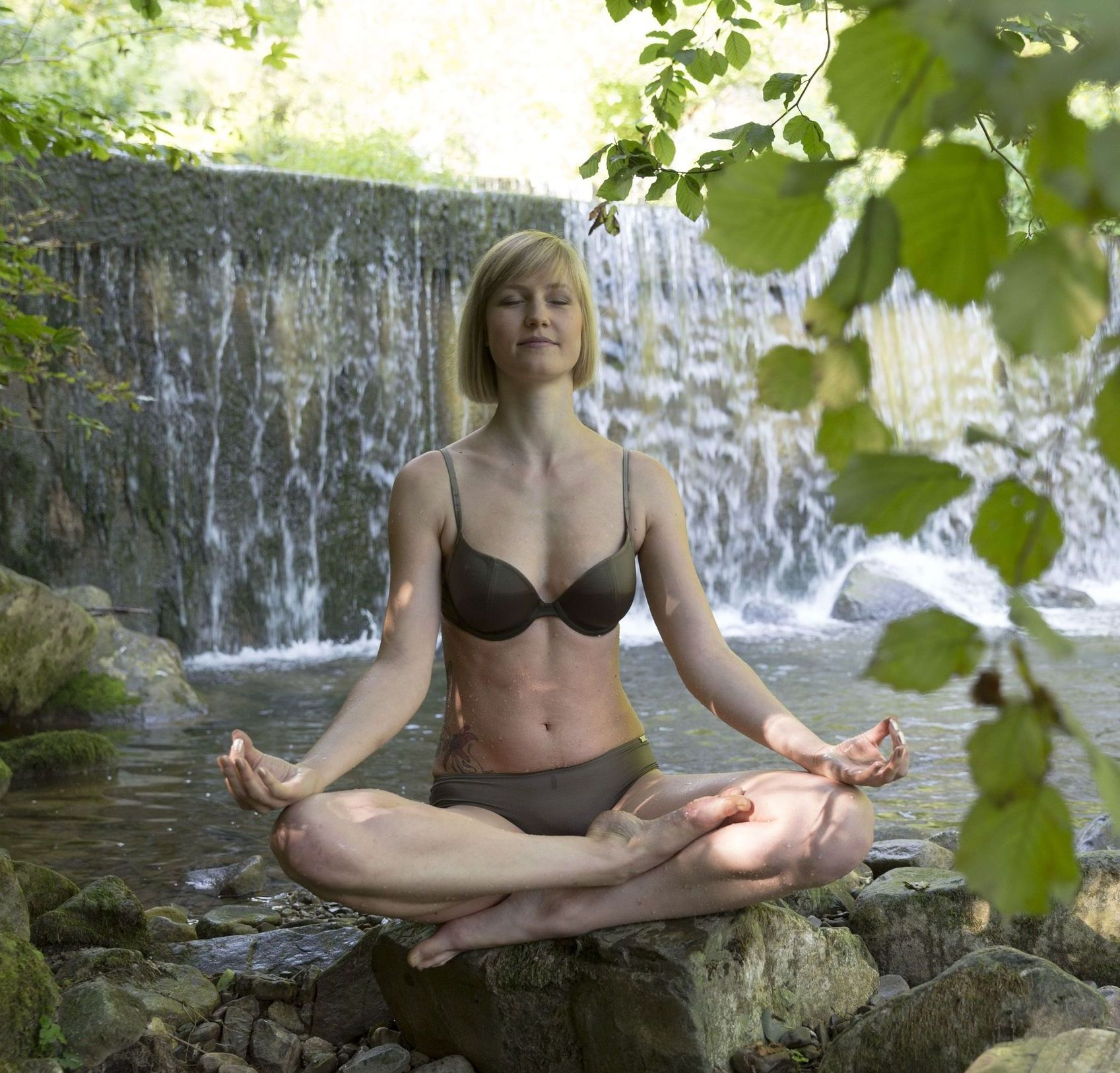 Wasserfall Yoga Meditation