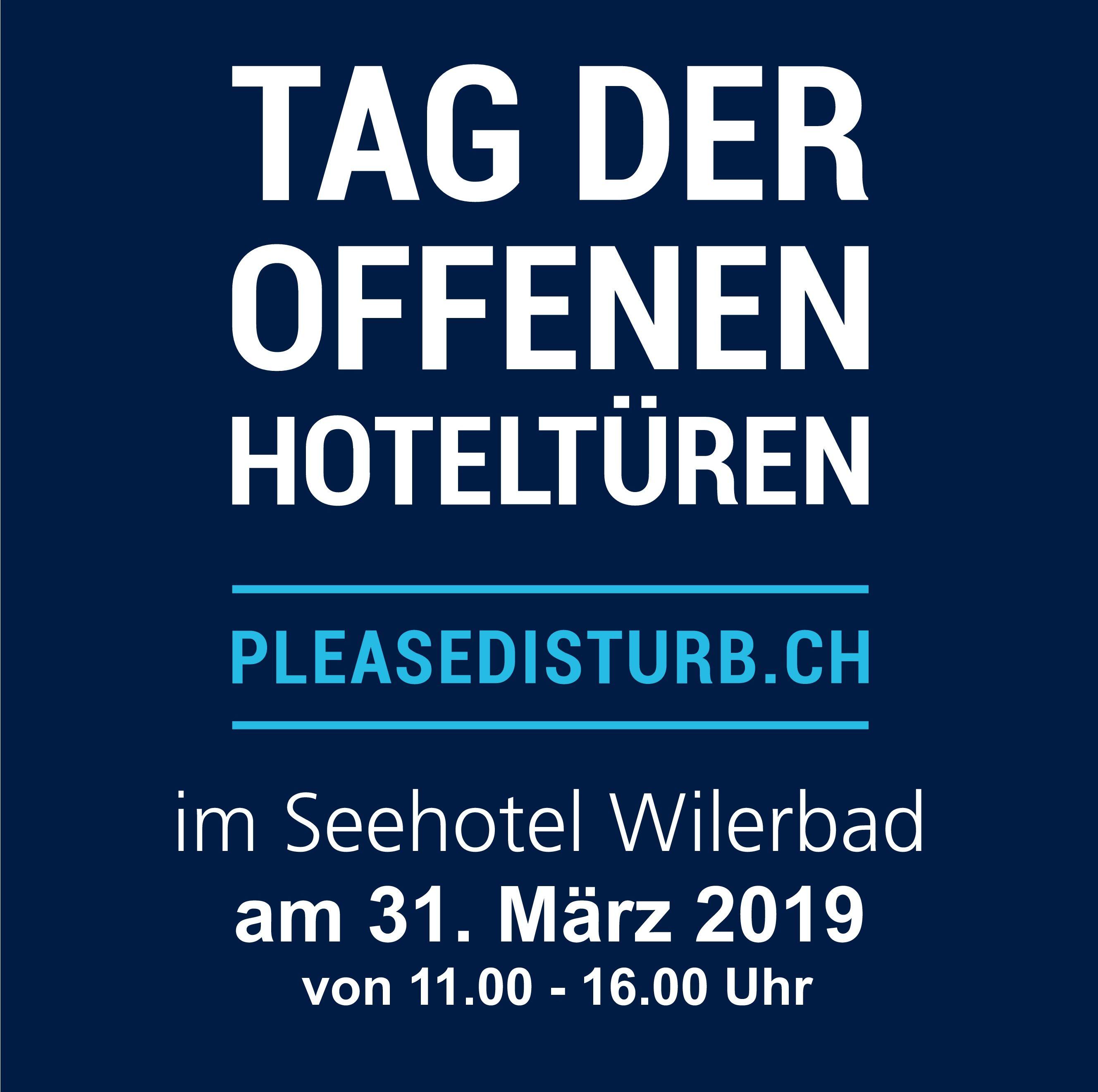 Please Disturb 2019 Tag der offenen Zimmertüren im Seehotel Wilerbad
